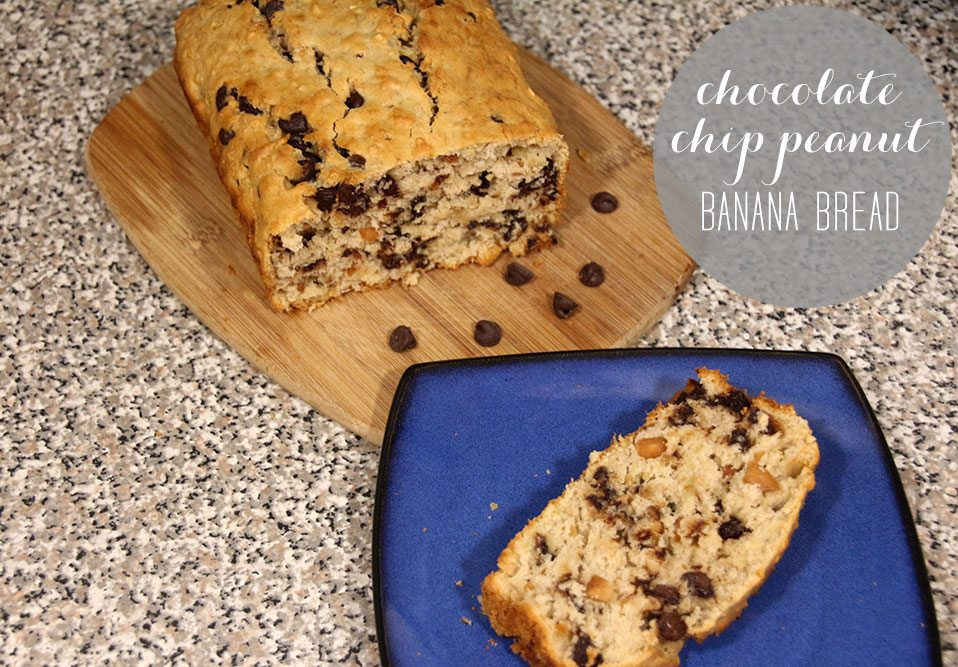 Chocolate Chip Peanut Banana Bread