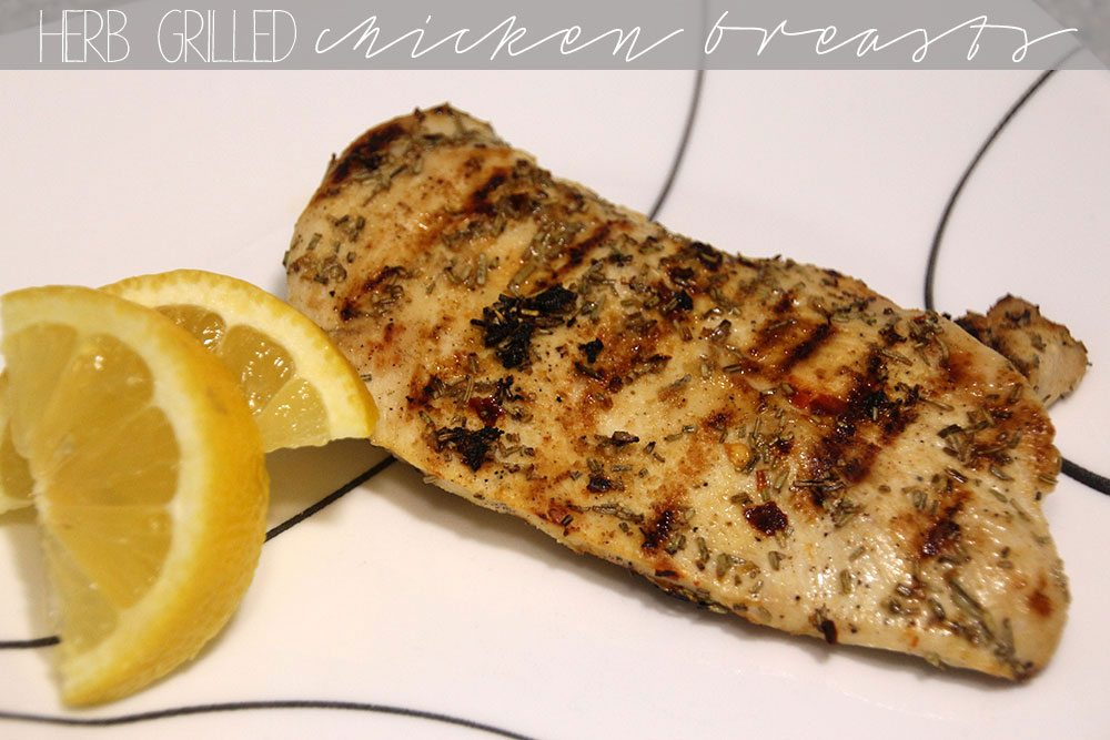 Grilled herb chicken breast
